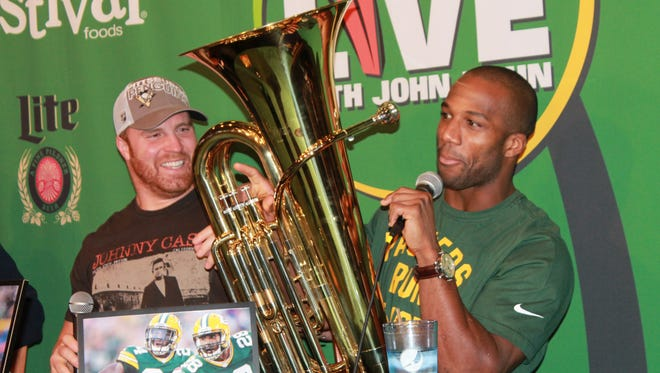 Clubhouse Live with John Kuhn welcomed Green Bay Packers cornerback Jarrett Bush. They appeared Monday with co-hosts Brett Christopherson and Ricardo Arguello at The Clubhouse Sports Pub & Grill inside the Radisson Paper Valley Hotel in downtown Appleton.