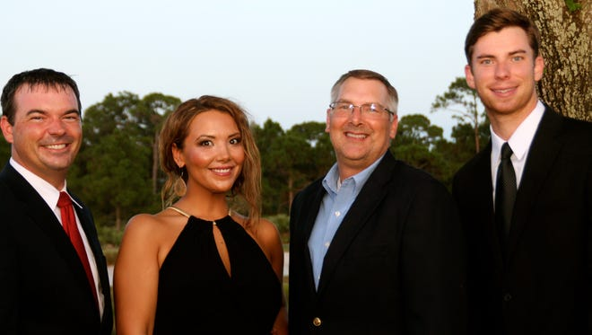 Hibiscus St. Lucie board members Travis Walker (from left), Shawna Taylor, Jeff Emmeluth and Kori Benton.