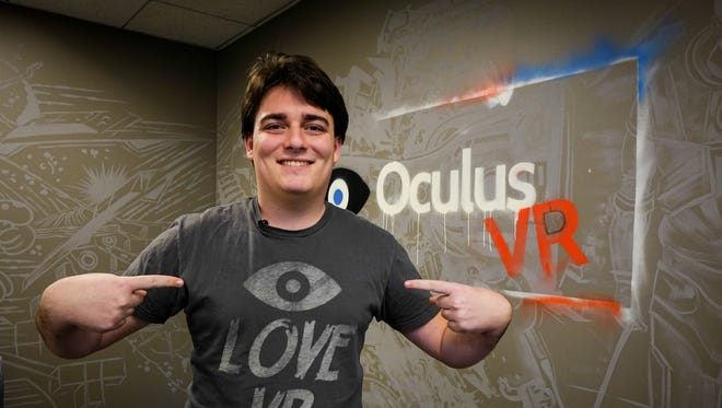 Palmer Luckey, the 21-year-old founder of the Oculus VR company, at company headquarters in Irvine, Calif.