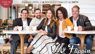 "Mike Styke (from left), Alan Damato, Jenni Radosevich, Mallory Davis and Benji Bernhard star in HGTV's ""My Flippin' Friends,"" a new pilot showcasing the friends flipping homes in Milwaukee. The show airs at 11 a.m. April 2 on HGTV."