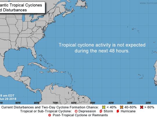 Tropics June 29, 2018