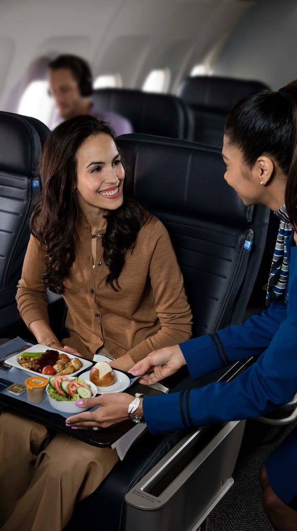 This file photo, provided by United, shows the premium