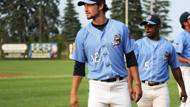 St. Cloud Rox closer Trevor Charpie, shown here at Joe Faber Field last season, is one of five players who will return next summer, the team announced Monday