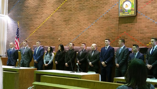 The Clifton Police Department swore in 13 recruits on Monday in a ceremony city officials called a significant step toward fully staffing the law enforcement agency for the first time since 2008.