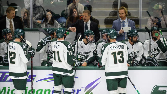 Coach Danton Cole and the Michigan State hockey team fell to Ohio State, 6-0, on Saturday night at Munn Arena.