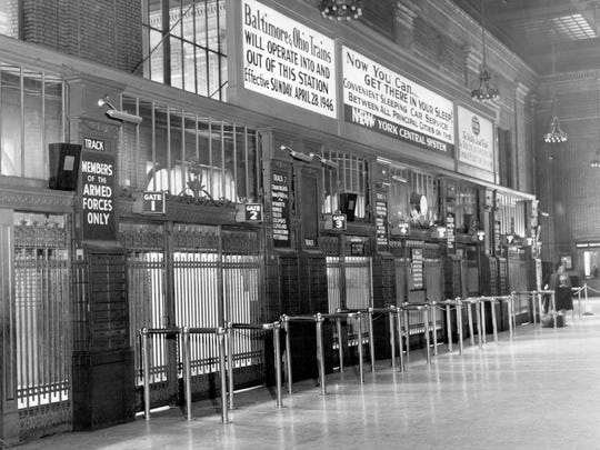 Michigan Central train station in a photo dated 1946.