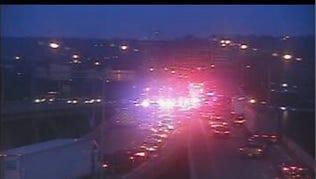 Crash on SB I-75 just north on Brent Spence Bridge closed all lanes of traffic.