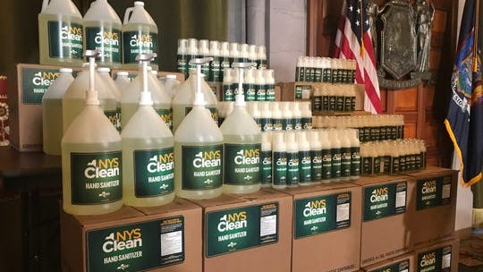 New York is using prison labor to produce its own line of hand sanitizer -- NYS Clean -- amid a coronavirus-fueled shortage, Gov. Andrew Cuomo announced Monday, March 9, 2020.