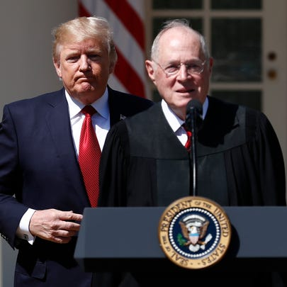 President Trump and retiring Supreme Court Justice