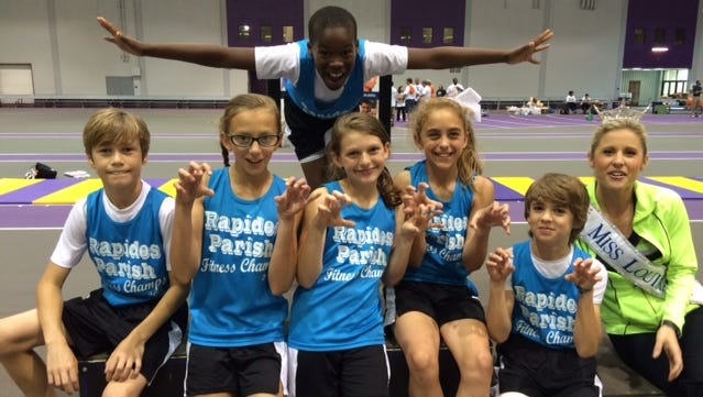 Six students from elementary schools in Rapides Parish represented their district at the Governor's Games state championship meet in Baton Rouge on April 25.