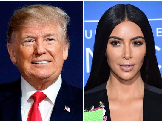 President Trump and Kim Kardashian West.