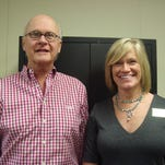 """Frank Varvaris recently presented the third of a four series seminar for the Arc of Southeast Iowa.  The topic was """"Understanding Guardianship."""" Pictured with Frank is Karen DeGroot, president/CEO of the Arc of Southeast Iowa."""