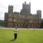 "Bernadette Kroska at Highclere Castle (better recognized as ""Downton Abbey."""