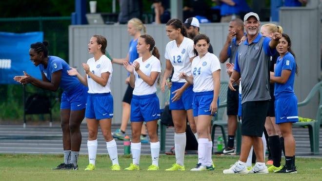 UWF women's soccer coach Joe Bartlinski takes team on pair of road games this weekend in GSC play.