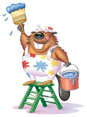 Bucky the Beaver will be on hand to greet children at Fairfield's Home Improvement Expo on Saturday.