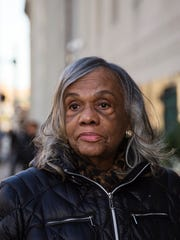 Shirley Lightsey on Friday  following Judge Steven Rhodes approval of Detroit's historic restructuring plan ending the largest municipal bankruptcy in U.S. history.