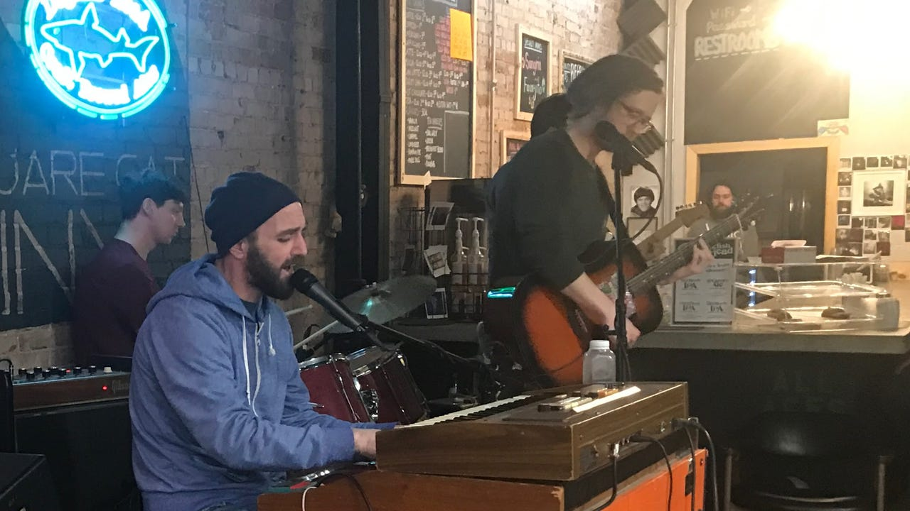 """Bybye performs """"Silence"""" on the Feb. 20, 2018, episode of """"Dogfish Head Brewery presents IndyStar Sessions at Square Cat Vinyl."""""""