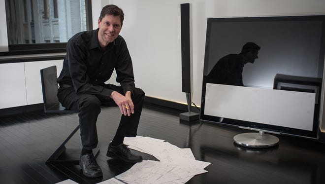 When composing new music, Pierre Jalbert says his work in progress looks like looks like a jumble of rhythmic fragments and hieroglyphs drawn on sheets of paper. The Milwaukee Symphony will play his Violin Concerto Feb. 16 and 17.