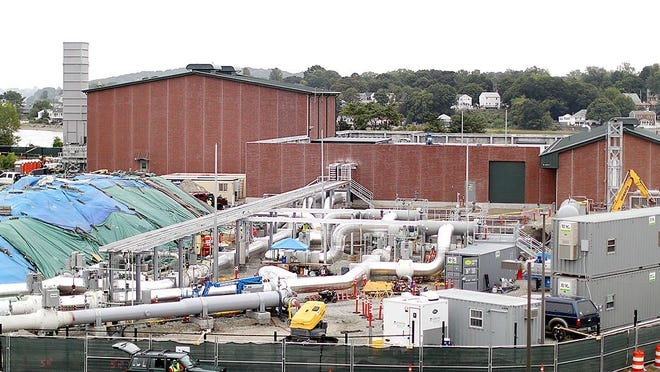 The Weymouth Compressor station is pictured on Sept. 3.   [Greg Derr/ The Patriot Ledger]