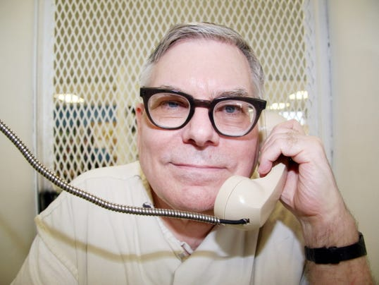 Texas death row inmate Lester Bower is photographed May 20, 2015, during an interview from a visiting cage at the Texas Department of Criminal Justice Polunsky Unit near Livingston, Texas. Bower is set to be executed June 3, 2015, for the fatal shootings of four men at an airplane hangar north of Dallas in 1983. At 67, Bower would be the oldest inmate executed in Texas since the state resumed carrying out the death penalty in 1982.