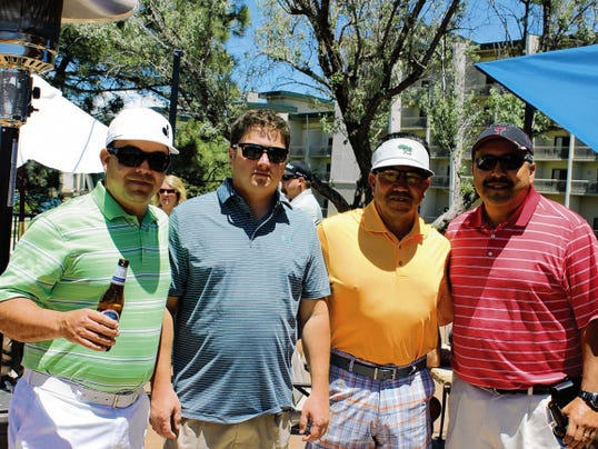 Spencer Benefit Golf Tournament at IMG 1st place winning team: Henry Mendoza, Alan Mendoza, Alex Martinez and Mike West.