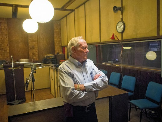 Emmit Brooks, here in his recording studio, started his career in the music industry as a performer with the now-legendary Aggie Ramblers, a Western swing band formed when he was a student at NMSU. They performed from the 1950s through the 1970s and Brooks said he still hears from fans, some of whom tell him they met their spouses at the band's performances.