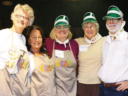 Volunteer Dealers at the 2015 CLAY Poker Tournament Fundraiser included, from left, Peggy Hutchinson, Lisa Jimenz, Jennifer Eldridge, Mary Ann Finn, Pete Cramer. Courtesy Photo