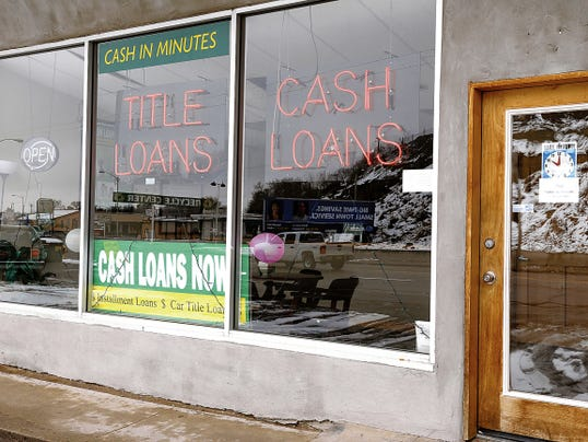 A payday loan store on West Main Street is pictured on Feb. 28. Attorneys at the annual San Juan County Legal Fair will provide advice on several topics, including payday loans.