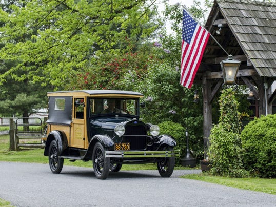 A display of 1928-1931 Ford Model A's, such as this 1929 Model A Huckster, will be part of the Lincoln Highway Jubilee Sept. 5 in Caledonia State Park, Fayetteville.