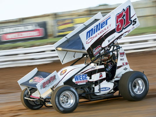 Stevie Smith heads out of turn 3 during qualifying for the World of Outlaws National Open at Williams Grove Speedway on Sunday. Smith won the 40-lap main event — and the 50,000 payout — for the first time since 1991.