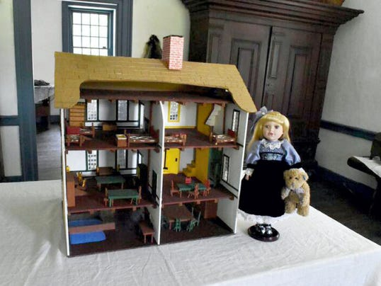 A fully furnished model of Jonathan Hager House is on display during American Doll House Tours in the Hager House museum.