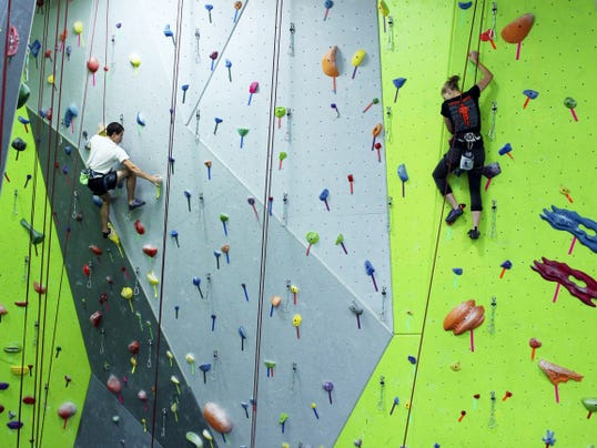 Just inside the front door of the huge Spooky Nook Sports facility is the rock climbing wall, a fun personal challenge (or take some colleagues and make it a competition).