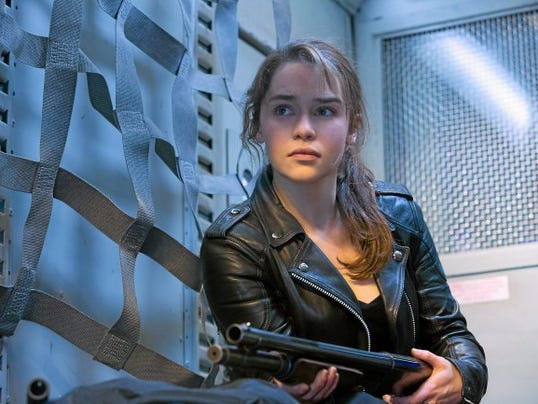 "This photo provided by Paramount Pictures shows, Emilia Clarke as Sarah Connor, in ""Terminator Genisys,"" from Paramount Pictures and Skydance Productions."