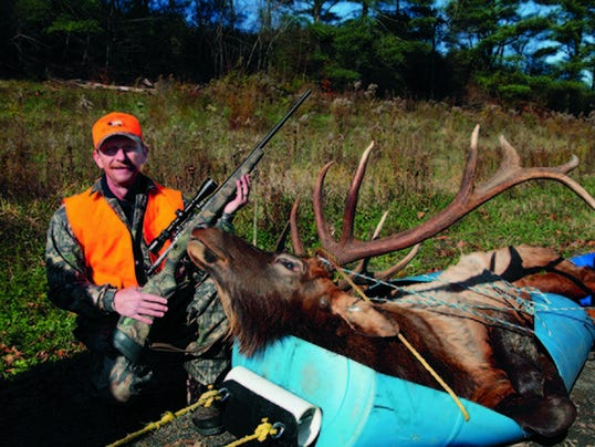Charles Stone, of Montrose, is shown with a 6- by-6-point bull elk he harvested on the first day of the season, Nov. 9. Twenty of 21 hunters with a bull elk license were successful in the 2015 season that concluded Saturday. A total of 85 elk were harvested during the season.