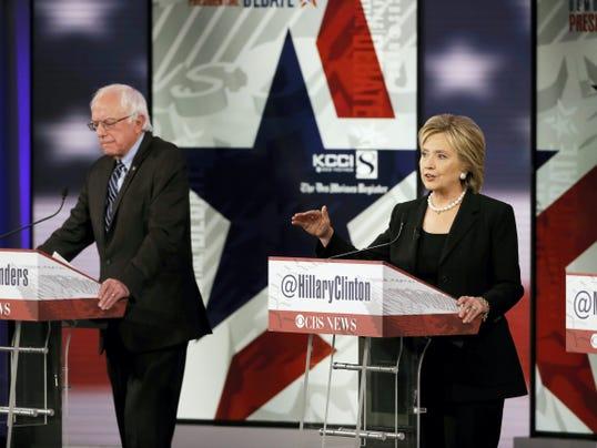 Hillary and Bernie