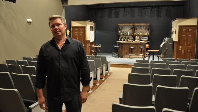 Joe Paprzycki stands in the Camden theater that was once his grandparents' bar in this scene from 'Dovere for Camden.'