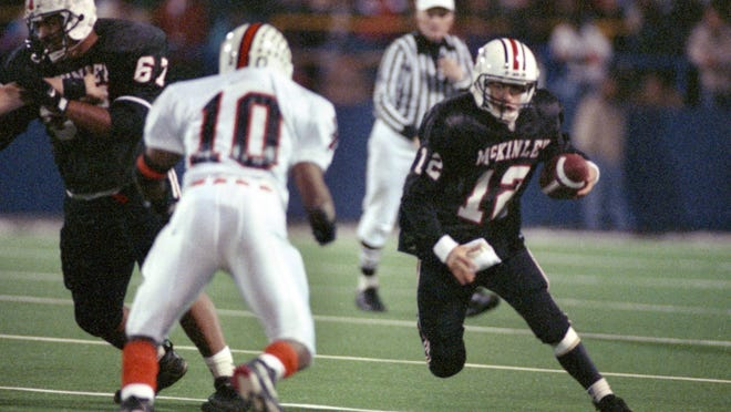 McKinley's Josh McDaniels (12) is shown in action against Massillon on Saturday, Nov. 19, 1994.