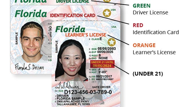 The new Florida driver's license has a variety of fraud-protection features.