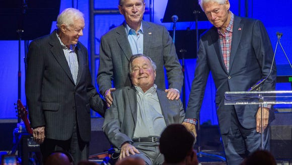 Former President George H.W. Bush and other ex-presidents.