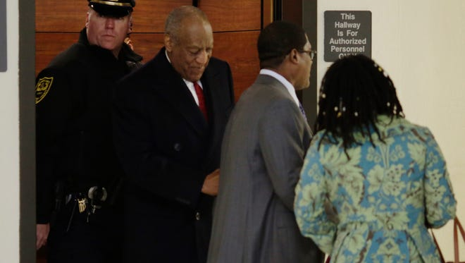 Bill Cosby arrives for the 10th day of his retrial for his sexual assault retrial, April 20, 2018.