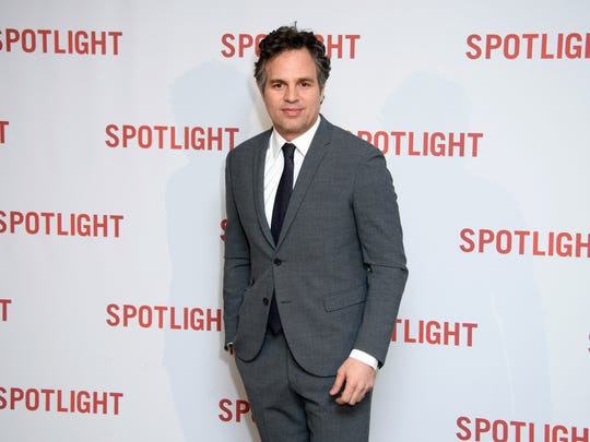 Mark Ruffalo poses for photographers upon arrival at