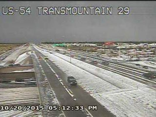 Trans Mountain Road hail
