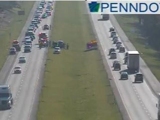 An incident along Route 30 eastbound near the Hellam