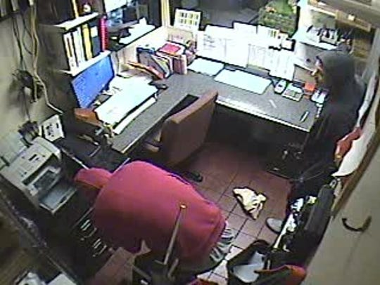 Surveillance video footage from the Burger King on