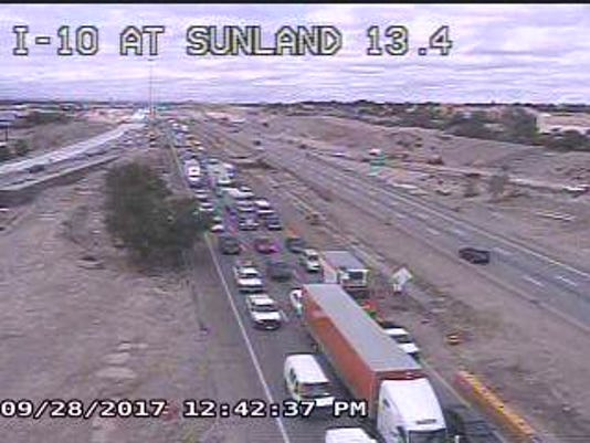 An accident Thursday snarled traffic on Interstate 10 in West El Paso