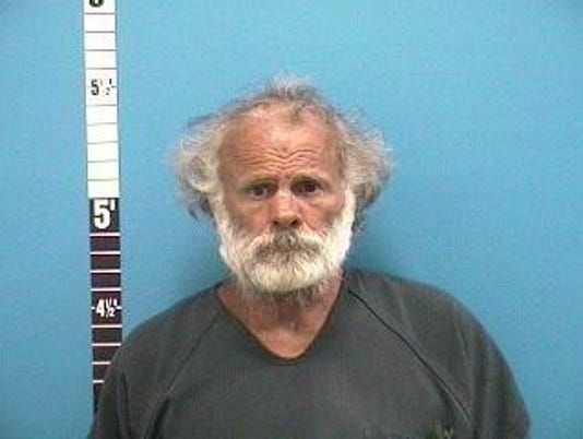 Donald Strickland was accused of kicking and pushing a 74-year-old woman.