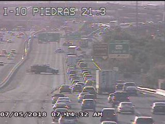 Accident at I-10 East and Copia