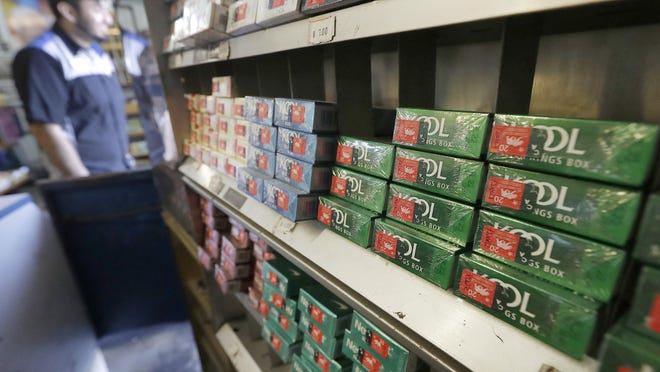 Packs of menthol cigarettes and other tobacco products at a store in San Francisco. FDA Commissioner Dr. Scott Gottlieb this week pledged to ban menthol from cigarettes, in what could be a major step to further push down U.S. smoking rates.