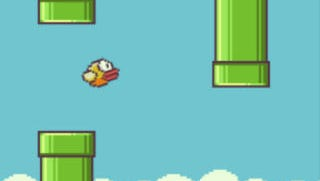 A screenshot of the mobile game 'Flappy Bird.'