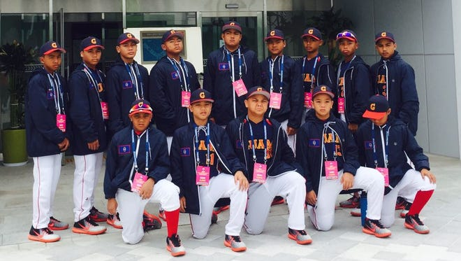 Team Guam at the Little League Asia Pacific & Middle East Regional Tournament in Hwaseong, South Korea.